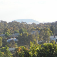View's of Mount Franklin from balcony